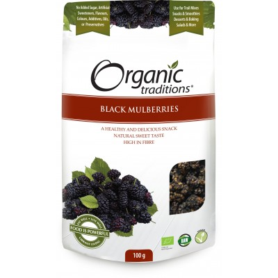 Organic Dried Black Mulberries