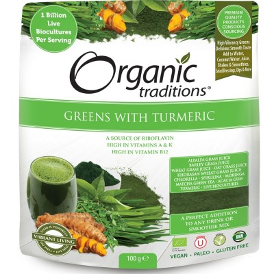 Organic Super Greens with Turmeric & Probiotics