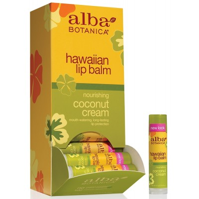 Hawaiian Lip Balm Coconut Cream 24pk